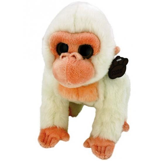 Albino gorilla knuffel pluche 33 cm