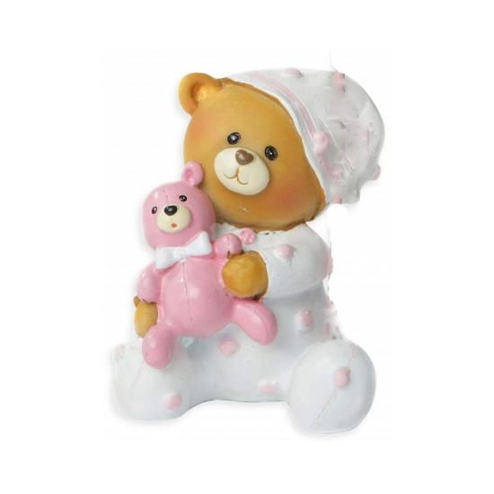 Baby beer spaarpot roze