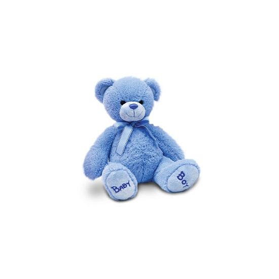 Baby boy beer 25 cm blauw