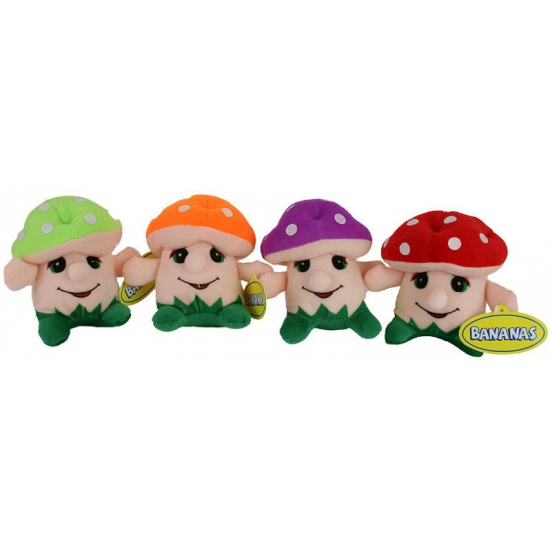 Baby knuffel paddenstoel 14 cm