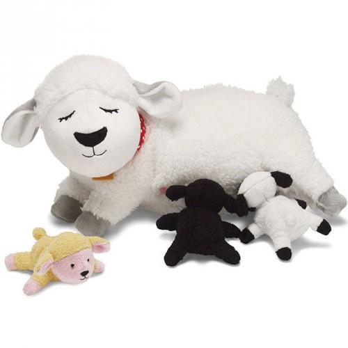 Baby schaapjes met mama 25 cm