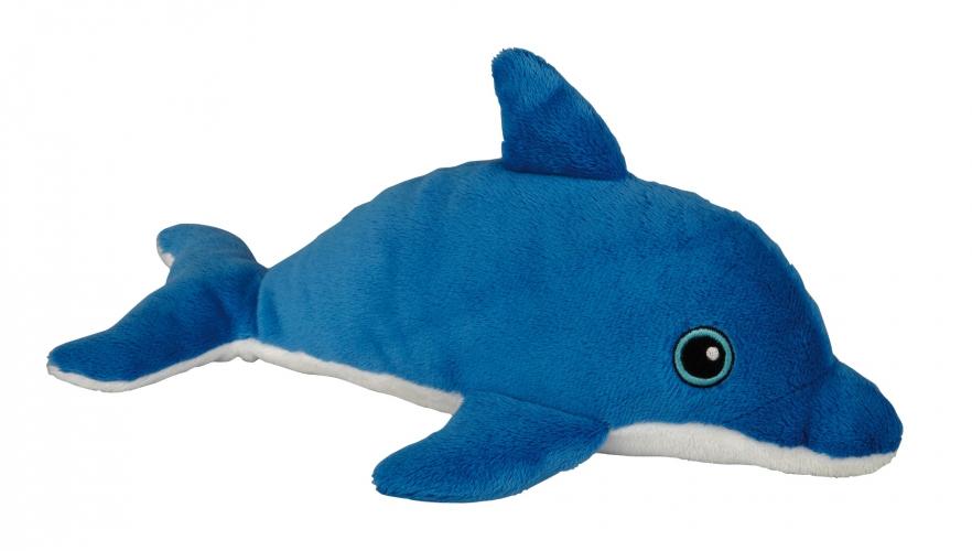 Blauw dolfijn knuffeltje 30 cm