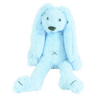 Blauw pluche konijn knuffel Richie