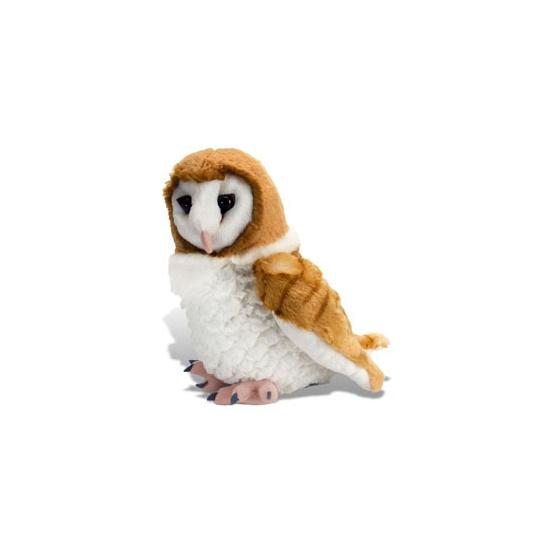Bruin met witte uilen knuffels 30 cm