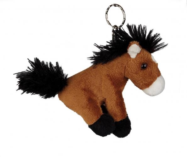 Bruin paardjes sleutelhanger