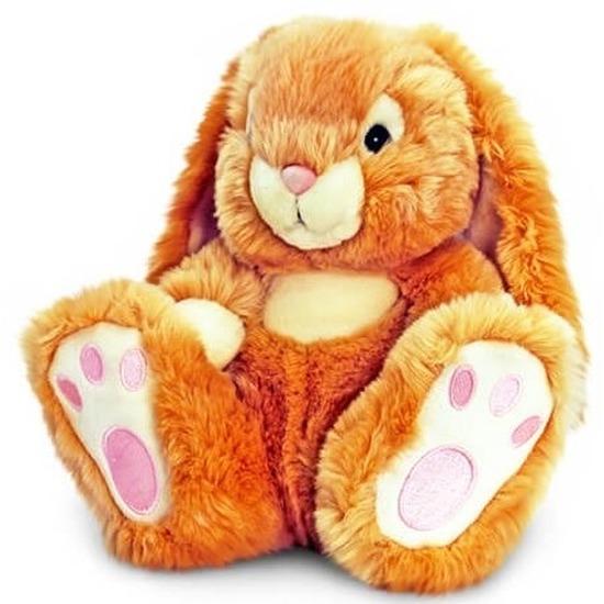 Bruine knuffel konijntje 25 cm
