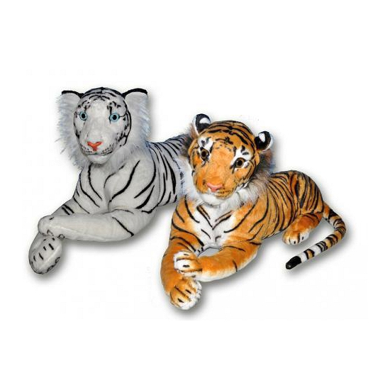 Bruine knuffel tijger 70 cm