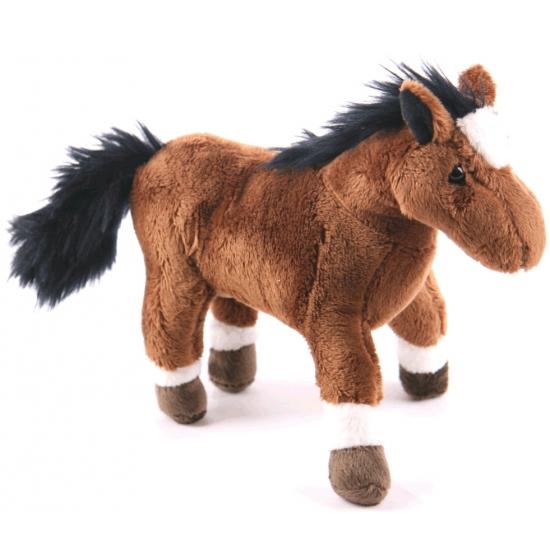 Bruine paarden knuffel 19 cm
