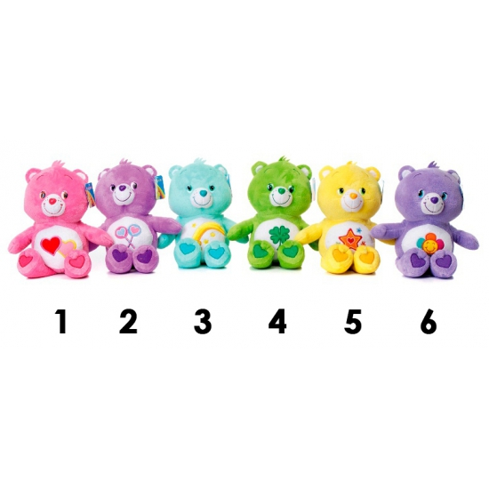 Care Bears gele knuffelbeer 33 cm