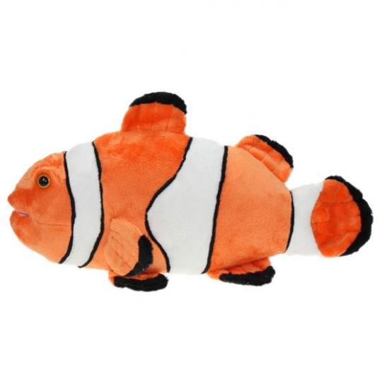Clownvis knuffel met kraalogen 49 cm