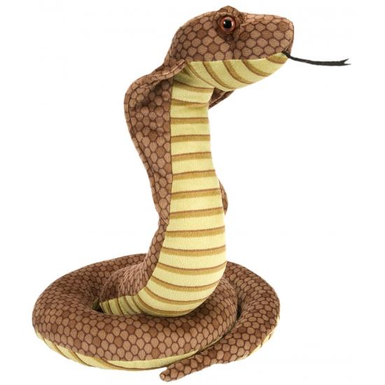 Cobra knuffel met kraalogen 30 cm