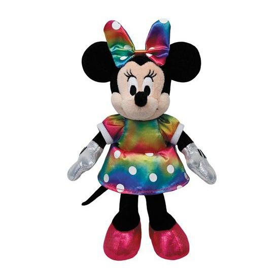 Gekleurde knuffel Beanie Buddy Minnie Mouse 20 cm