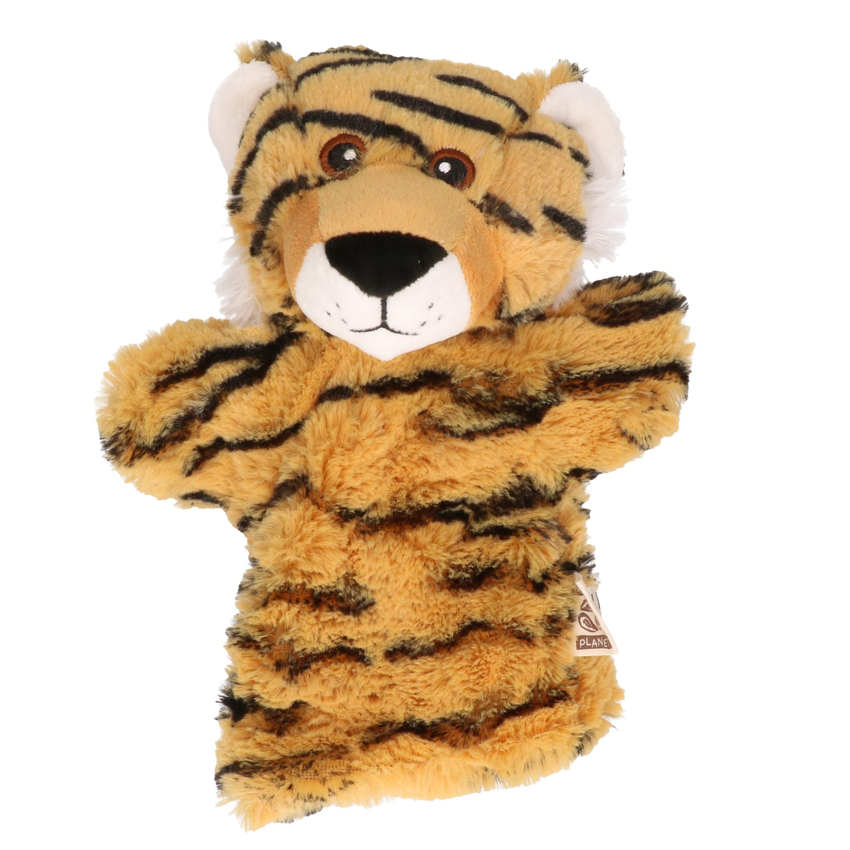 Gestreepte tijgers handpop 22 cm