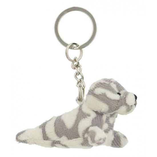 Gevlekt zeehondje sleutelhanger 8,5 cm