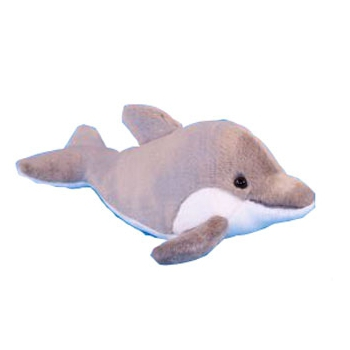 Grijze dolfijn knuffel 31 cm
