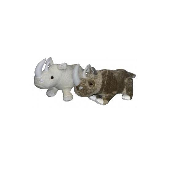 Grijze grote neushoorn knuffel 58 cm