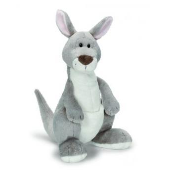 Grijze kangoeroe knuffel 25 cm