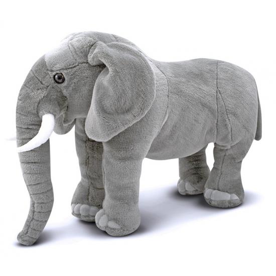 Grijze knuffel olifant 68 cm