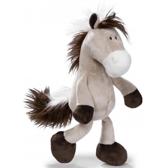 Grijze knuffel paardje Nici 35 cm
