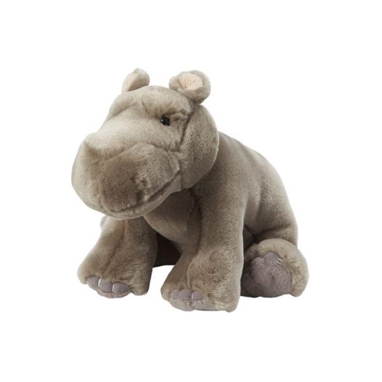 Grijze nijlpaard knuffels 18 cm