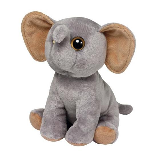 Grijze olifanten knuffel 15 cm