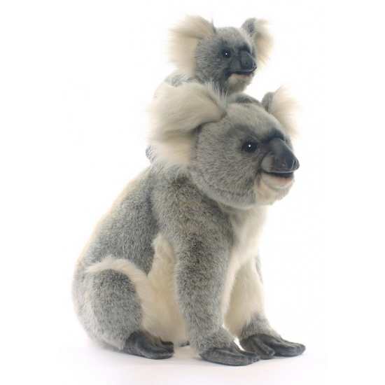 Grijze pluche koala mama 60 cm
