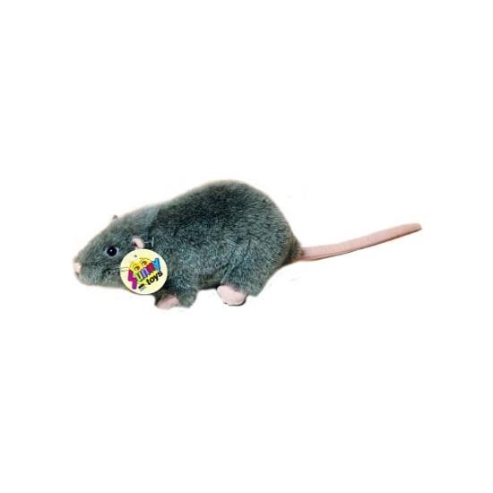 Grijze rat knuffel knaagdier 20 cm