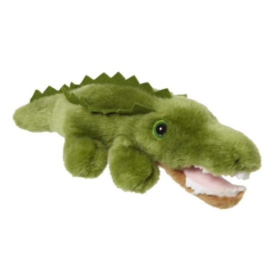 Groen krokodil van pluche 21 cm