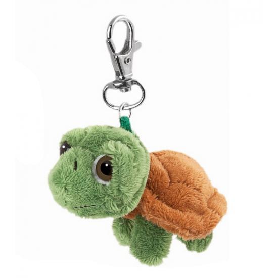Groen schildpadje aan sleutelhanger
