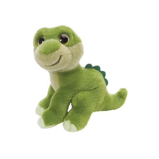 Groene dino knuffeldier 18 cm