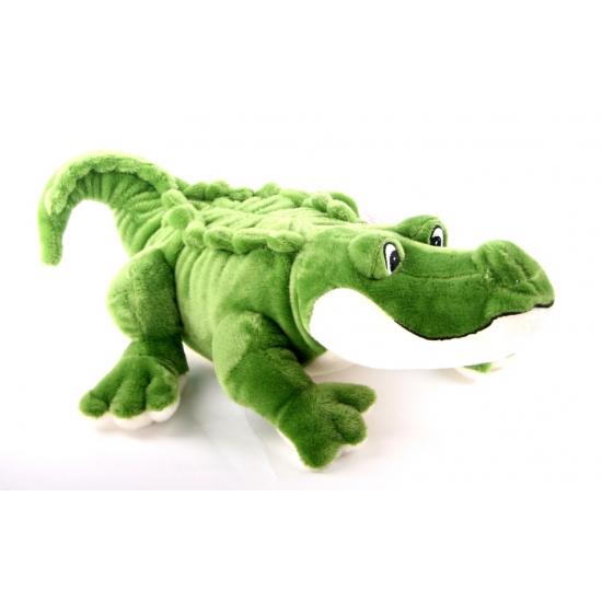 Groene knuffel kaaiman 45 cm