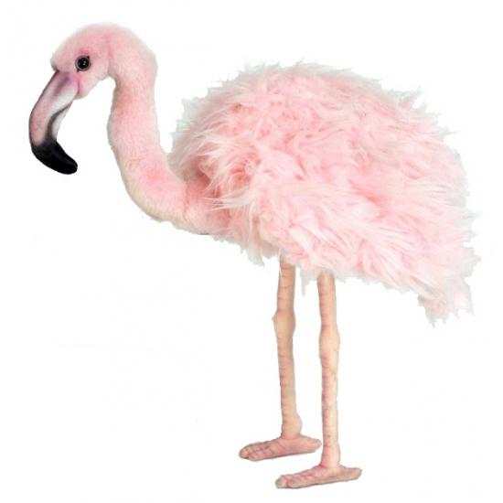 Grote flamingo knuffel 38 cm