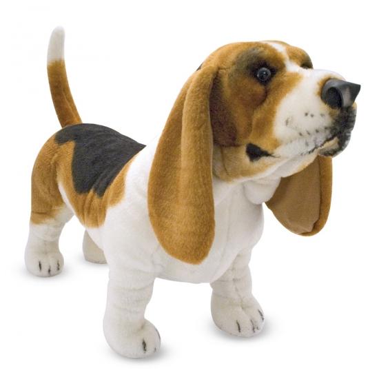 Grote honden knuffel Basset 65 cm