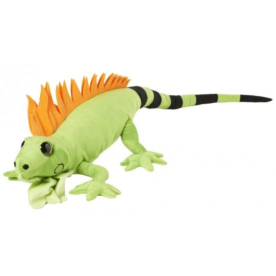 Grote leguaan knuffel groen 110 cm