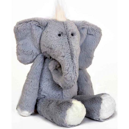 Grote olifanten knuffel grijs 25 cm