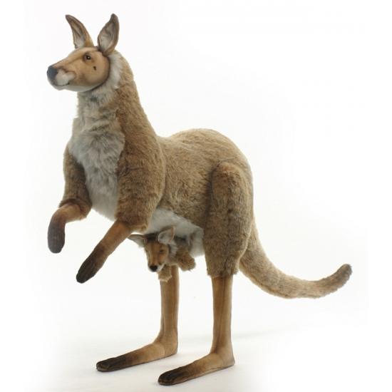 Grote pluche kangoeroe 125 cm