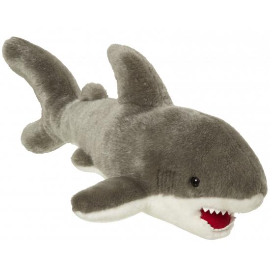 Grote pluche witte haai 45 cm