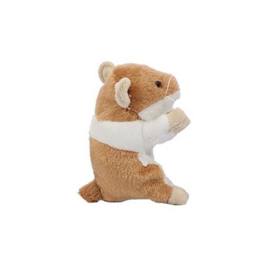 Hamster knuffel van 13 cm beige