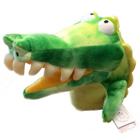 Handpop 20 cm krokodil