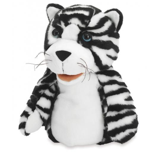 Handpop zwart witte tijgers