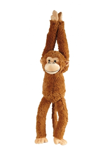 Hangende knuffel aap bruin 65 cm