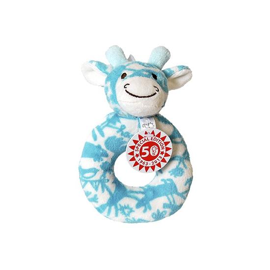 Happy Horse blauwe rammelaar giraffe Jubilee 13 cm