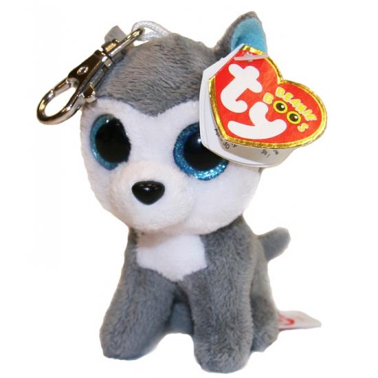Husky hond Ty Beanie sleutelhanger 12 cm