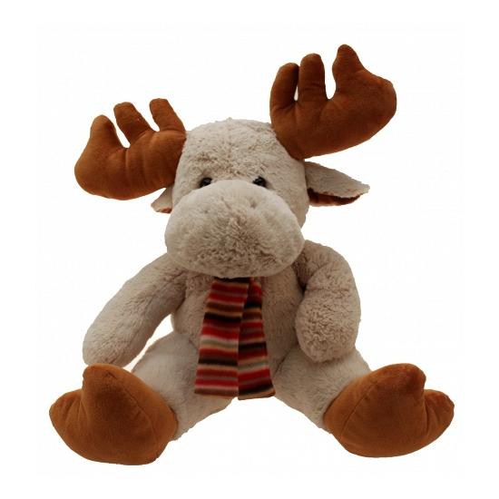 Kerst knuffel rendier met sjaal