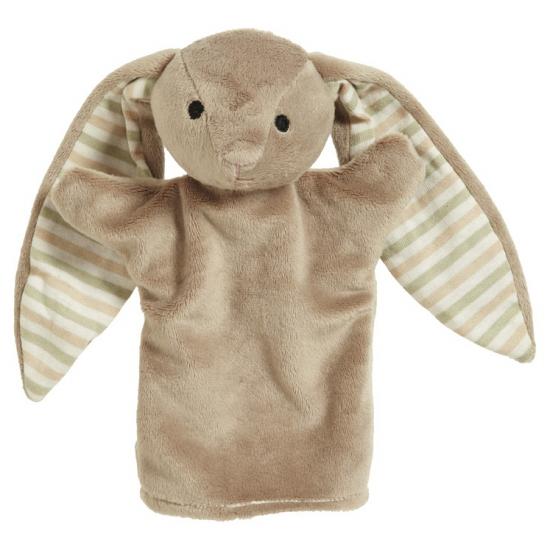 Kinder handpoppen konijn 22 cm