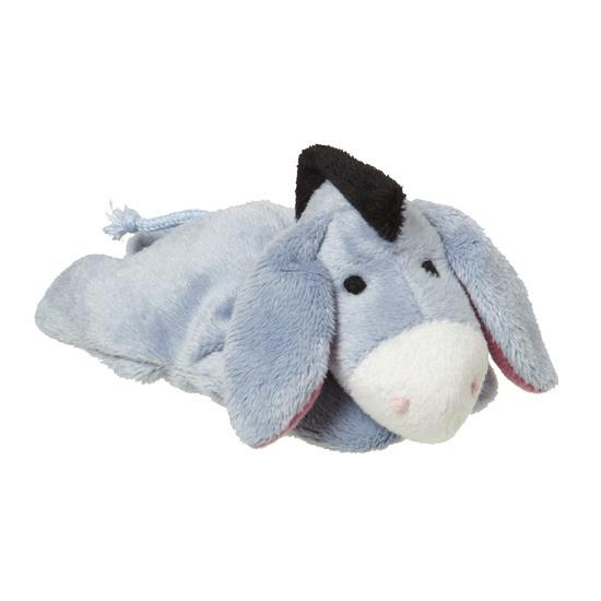 Kinder knuffel ezeltje lichtblauw 13 cm