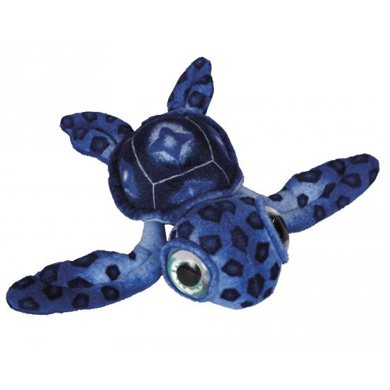 Kinderknuffel schildpad blauw 39 cm