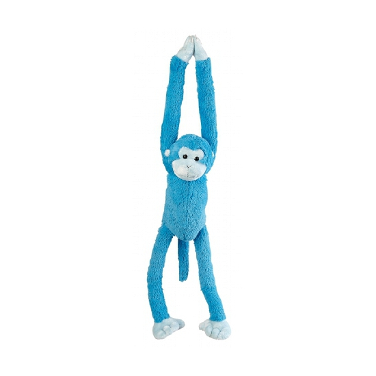 Knuffel aapje blauw 55 cm