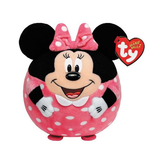 Knuffel Beanie Ballz Minnie Mouse 12 cm