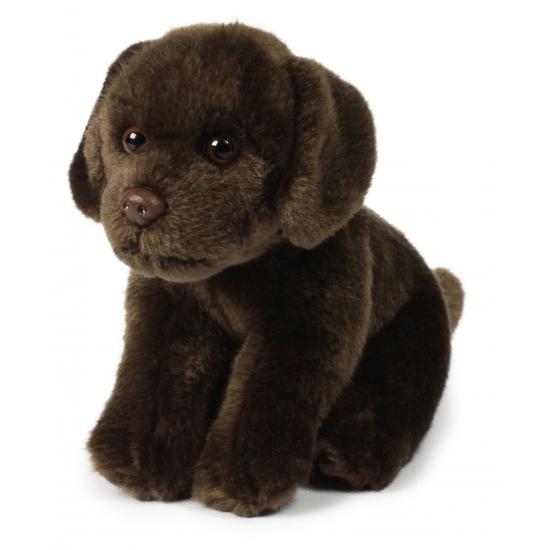 Knuffel hond bruine labrador 20 cm